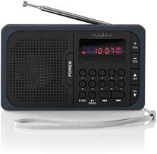 Nedis FM Radio - USB & microSD Svart/Grå
