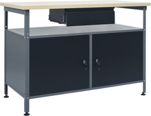 vidaXL arbejdsbænk 120x60x85 cm stål sort