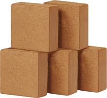 vidaXL Block i kokosfiber 5 st 5 kg 30x30x10 cm