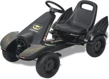 Pedal-go-kart med justerbart sete svart