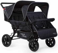 CHILDWHEELS Syskonvagn för 4 barn svart CWTB2