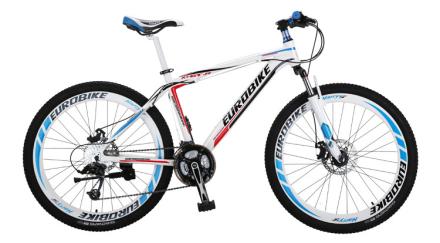 """Mountain bike 26"""" - sykkel med 21 gir - blå og hvit"""