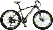 """Mountain bike 26"""" - sykkel med 21 gir - grønn og sort"""