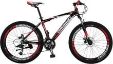 """Mountain bike 26"""" - sykkel med 21 gir - rød og sort"""