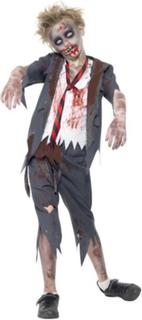 Zombie Skolegutt kostyme