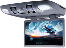 """Takskjerm 15"""" monitor og DVD til bil - grå"""