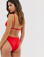 French Connection strappy bikini set-Red