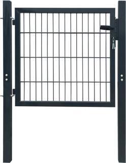 vidaXL hegnslåge stål antracitgrå 106 x 150 cm