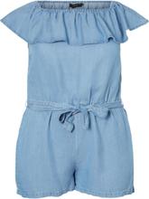 VERO MODA Off Shoulder -mallinen Chambray-kankainen Haalari Women Blue
