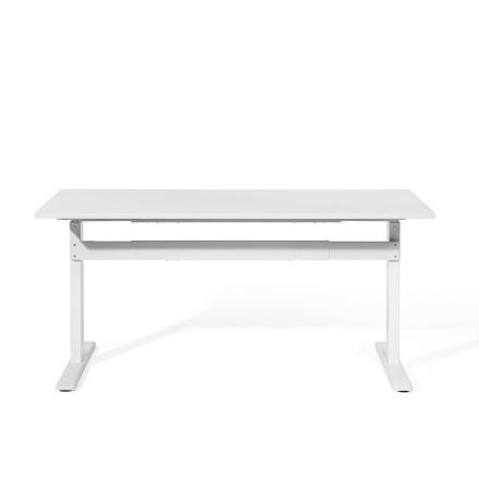 Beliani Säädettävä valkoinen työpöytä 160x70 cm UPLIFT