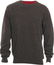 Deerhunter Men's Brighton Knit O-neck Herr Tröja Grå S