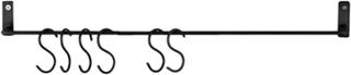 Vägghängare m. S-krokar Antik Svart