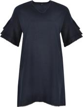Dress frill cuffs LINEN M (M) blue (230)