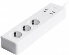 Smart WiFi forlængerledning med individuel afbryder - 4 stik og 2 USB