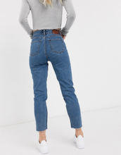 Only Petite straight leg jean in mid blue