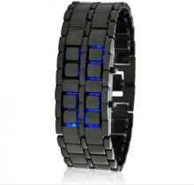 Ice Samurai - Japansk inspirert Blå LED klokke