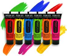 VELG BLANT 12 FARGER - Neon UV/Blacklight Ansikt og Kroppsmaling 13 ml