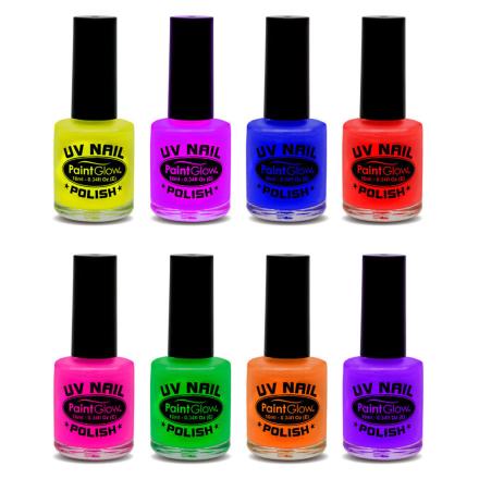 VELG BLANT 8 FARGER - Neon UV/Blacklight Neglelakk