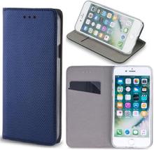 Huawei y6s - smart magnet flip case mobilplånbok - marinblå