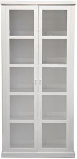Høyt Skap hvit m/2 glassdører - H:210 B:100 cm