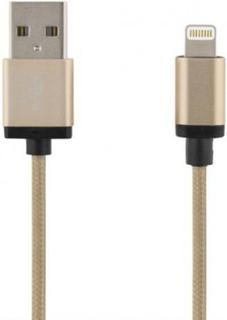 DELTACO PRIME USB - Lightning-kabel, MFi, 2m Gold