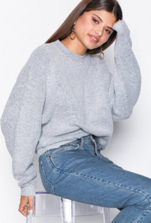 NLY Trend Sleeve Focus Knit Grey Melange