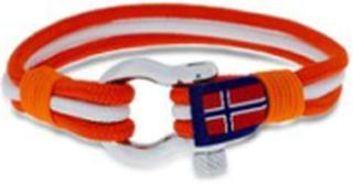 GD Maritim armbånd oransje/hvit