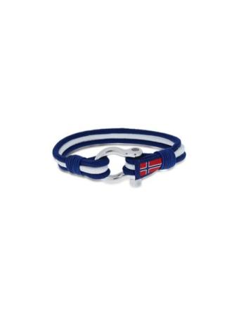 GD Maritim armbånd blå/hvit