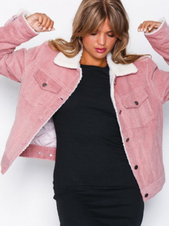 NLY Trend Cozy Corduroy Jacket Bomberjackor Rosa