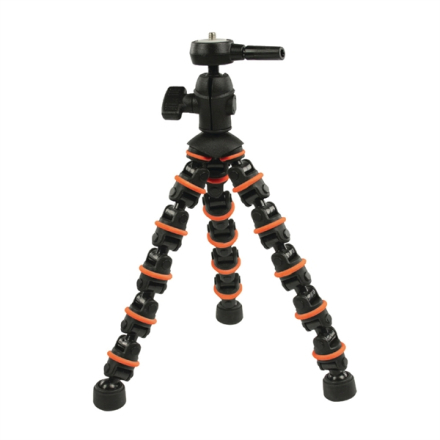 Camlink Flexibel Stativ 28.5 cm 1 kg Svart/Orange