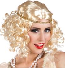 Blond Flapperparykk med Hodebånd
