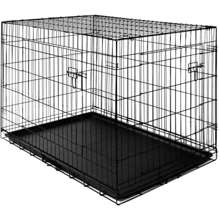 Sammenleggbart og låsbart transportbur - hundebur