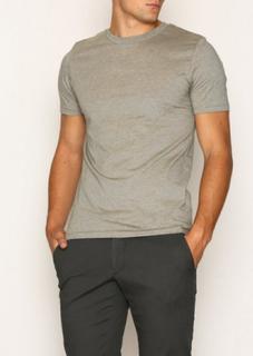 Selected Homme Slhtheperfect Mel Ss O-Neck Tee B N T-skjorter og singleter Lys brun