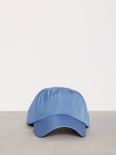 Topman Bright Blue Nylon Curve Peak Cap Capser Light Blue
