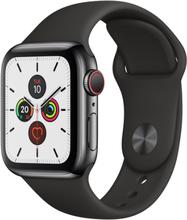 Apple Watch Series 5 Cellular 44mm Aluminium Space Grey Sportsrem Sort