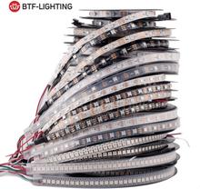 1m 2m 4m 5m WS2812B Led Lights WS2812 RGB Led Strip Light Individually Addressable Led Light Strip Black/White PCB IP30/65/67 5V