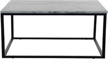 Accent soffbord 110 - Vit marmor / Svart underrede