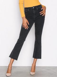 Gina Tricot Nicole Kickflare Jeans Bootcut & Flare Black Grey