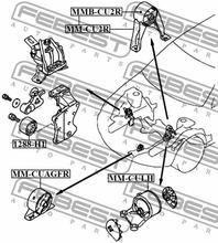 Motormontering FEBEST MMB-CU2R