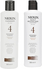 Nioxin System 4 Cleanser 300ml & Scalp Therapy Revitalizing Conditioner 300ml
