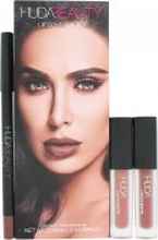 Huda Beauty Spice Girl & Venus Lip Contour Presentset 2 x 1.9ml Liquid Lipsticks + 1.2g Lip Liner
