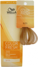Wella Color Fresh 8/03 Light Natural Gold Blonde 75ml