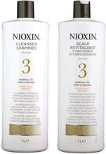 Nioxin System 3 Cleanser 1000ml + Scalp Therapy Revitalizing Conditioner 1000ml