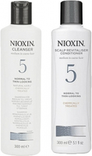 Nioxin System 5 Cleanser 300ml & Scalp Therapy Revitalizing Conditioner 300ml