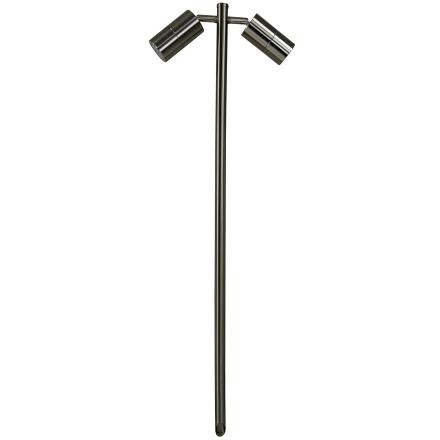 Markspotlight - 2 lampor - Rostfritt stål