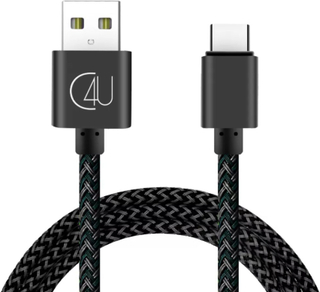 3m C4U laddkabel / laddare 2.4A Type-C USB-C Galaxy S8 S9