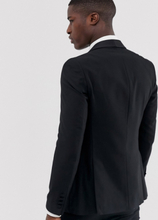 French Connection occasion slim fit tuxedo suit jacket-Black