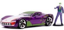 Jada Druckguss-Figur im Maßstab 1:24 2009 Corvette Stingray Koncept mit Joker Figur
