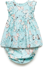 Rhia Dress Baby+ Panties Kjole Blå HOW TO KISS A FROG