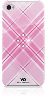 WHITE DIAMONDS Grid Pink iPhone 4/4s inkl Crystal Pin 3,5mm